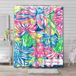 Lilly Pulitzer Toucan Play Shower Curtain Bathroom Waterproof