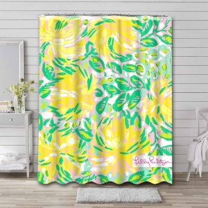 Lilly Pulitzer Shower Curtain Waterproof Polyester