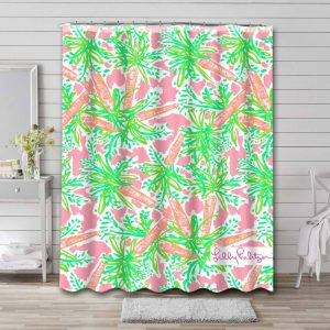 Lilly Pulitzer Nibbles Bathroom Shower Curtain Waterproof
