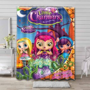 Little Charmers Shower Curtain Bathroom Decoration Waterproof Polyester Fabric.