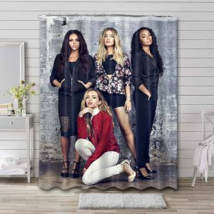 Little Mix Members Shower Curtain Waterproof Polyester