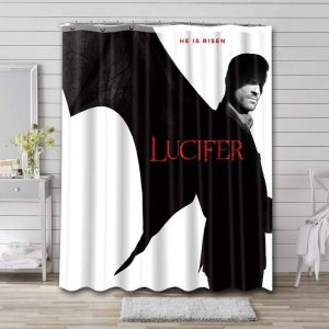 Lucifer TV Shows Shower Curtain Waterproof Polyester