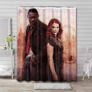 Luther TV Series Shower Curtain Bathroom Decoration