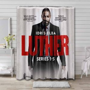 Luther TV Series Shower Curtain Waterproof Polyester
