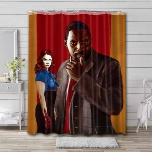 Luther Shower Curtain Waterproof Polyester