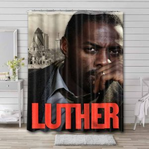 Luther Shower Curtain Bathroom Decoration Waterproof Polyester Fabric.