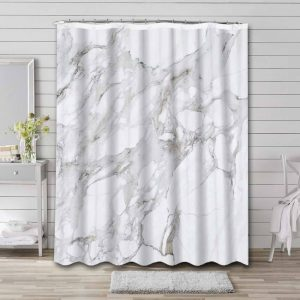 Marble Nordic Wave Shower Curtain Bathroom Decoration