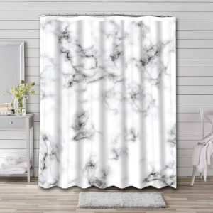 Marble Nordic Wave Shower Curtain Waterproof Polyester