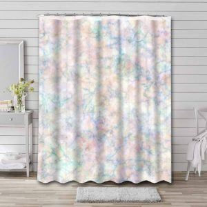 Marble Aesthetic Shower Curtain Waterproof Polyester