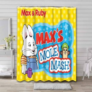 Max & Ruby Mole Mash Shower Curtain Waterproof Polyester