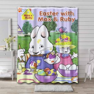 Max & Ruby Easter Shower Curtain Waterproof Polyester
