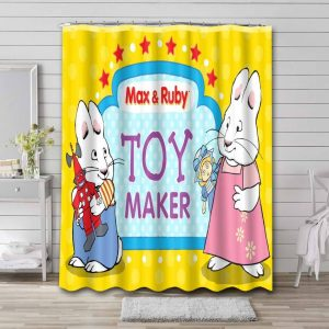 Max & Ruby Toy Maker Shower Curtain Bathroom Decoration