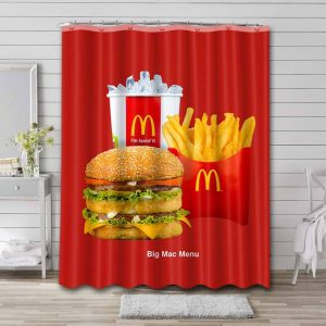 McDonald's Poster Shower Curtain Waterproof Polyester
