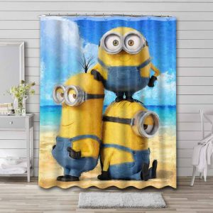 Minions Despicable Me Shower Curtain Bathroom Waterproof