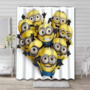 Minions Despicable Me Shower Curtain Waterproof Polyester