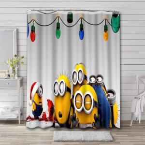Minions Despicable Me Bathroom Shower Curtain Waterproof
