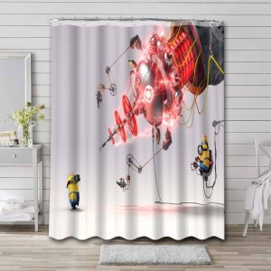 Minions Despicable Me Waterproof Bathroom Shower Curtain