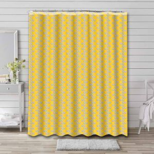 Minions Patterns Shower Curtain Waterproof Polyester