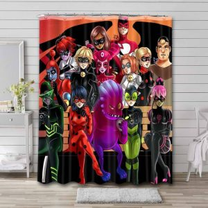 Miraculous: Tales Of Ladybug & Cat Noir Characters Shower Curtain Waterproof Polyester