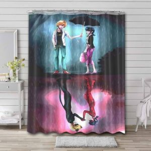 Miraculous: Tales Of Ladybug & Cat Noir Shower Curtain Waterproof Polyester