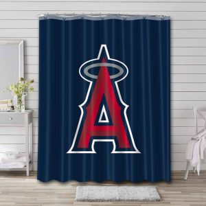 Los Angeles Angels Shower Curtain Bathroom Decoration Waterproof Polyester Fabric.