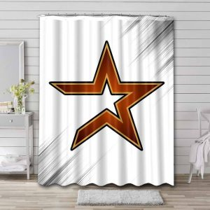 Houston Astros MLB Shower Curtain Waterproof Polyester
