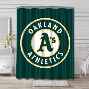 Oakland Athletics Shower Curtain Waterproof Polyester