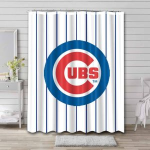 Chicago Cubs Shower Curtain Waterproof Polyester