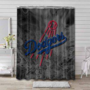 Los Angeles Dodgers MLB Shower Curtain Waterproof Polyester