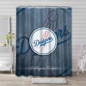 Los Angeles Dodgers Shower Curtain Waterproof Polyester