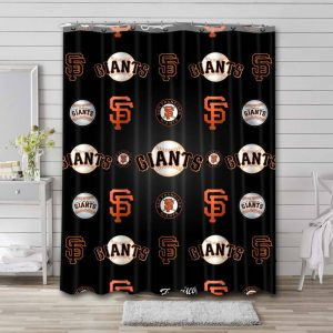 San Francisco Giants Patterns Shower Curtain Waterproof Polyester