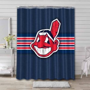Cleveland Indians Baseball Shower Curtain Waterproof Polyester