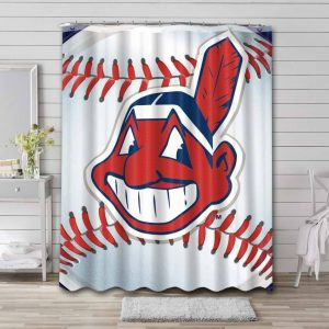 Cleveland Indians Shower Curtain Waterproof Polyester