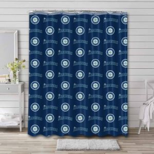Seattle Mariners Patterns Shower Curtain Waterproof Polyester