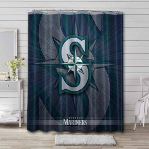 Seattle Mariners Shower Curtain Waterproof Polyester