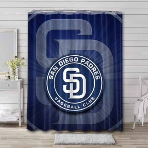 San Diego Padres Shower Curtain Waterproof Polyester
