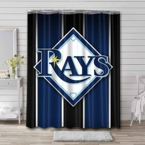 Tampa Bay Rays MLB Shower Curtain Waterproof Polyester