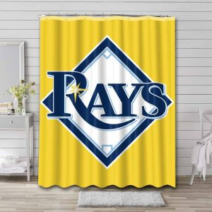 Tampa Bay Rays Logo Shower Curtain Waterproof Polyester