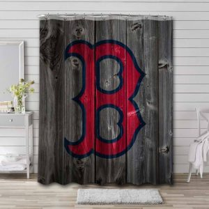 Boston Red Sox Team Shower Curtain Waterproof Polyester