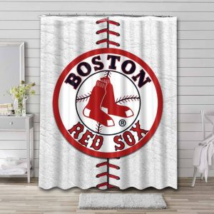 Boston Red Sox MLB Shower Curtain Waterproof Polyester