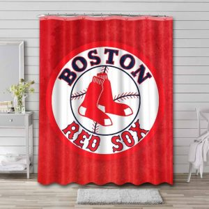 Boston Red Sox Shower Curtain Waterproof Polyester