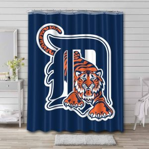 Detroit Tigers Shower Curtain Waterproof Polyester