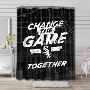 Chicago White Sox Baseball Shower Curtain Waterproof Polyester