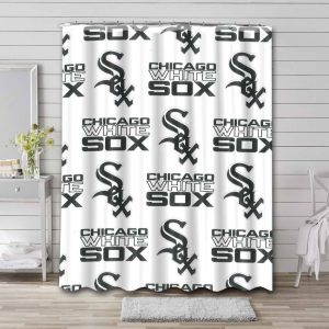 Chicago White Sox Pattern Shower Curtain Waterproof Polyester