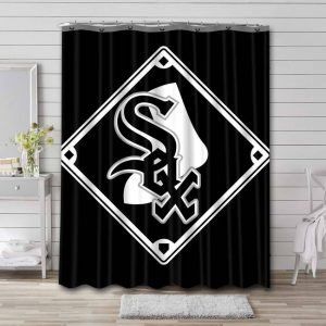 Chicago White Sox Shower Curtain Bathroom Decoration Waterproof Polyester Fabric.