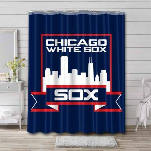 Chicago White Sox Team Shower Curtain Waterproof Polyester