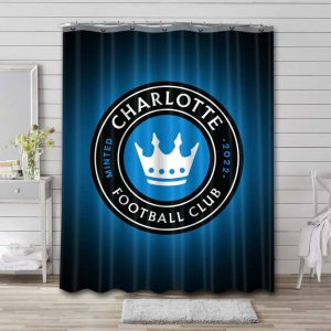 Charlotte FC Soccer Shower Curtain Waterproof Polyester