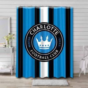Charlotte FC Shower Curtain Waterproof Polyester