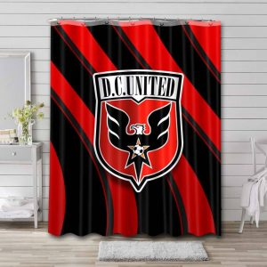 D.C. United Logo Shower Curtain Waterproof Polyester