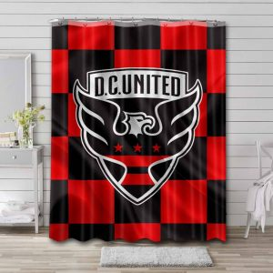 D.C. United Team Shower Curtain Waterproof Polyester